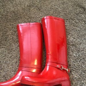Coach Shoes - Coach Lori Shiny Rain Boots